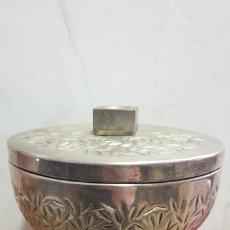 Antigüedades: OSTIARIO FORMA COPON AÑOS 70 METAL Y INTERIOR DORADO. Lote 195374946