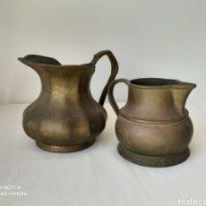 Antigüedades: ANTIGUAS JARRAS DE BRONCE MUY PESADA.. Lote 195376030
