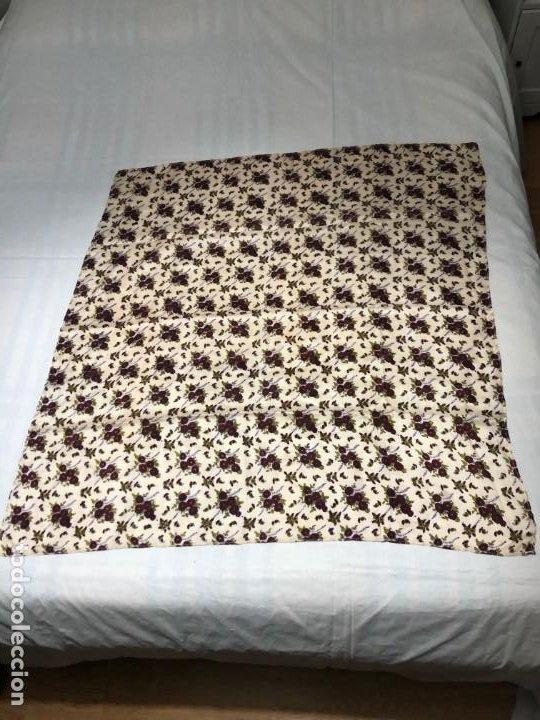 PAÑUELO ESTAMPACIÓN FLORAL (Antigüedades - Moda - Pañuelos Antiguos)