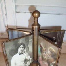 Antigüedades: ESPECTACULAR PORTAFOTOS EN BRONCE, AÑOS 20, MUY RARO. Lote 194892223