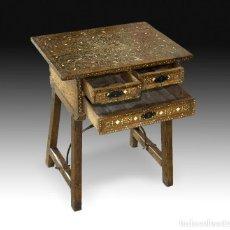 Antigüedades: MESA DE FIADORES CON TARACEA. SIGLO XVI.. Lote 195380618