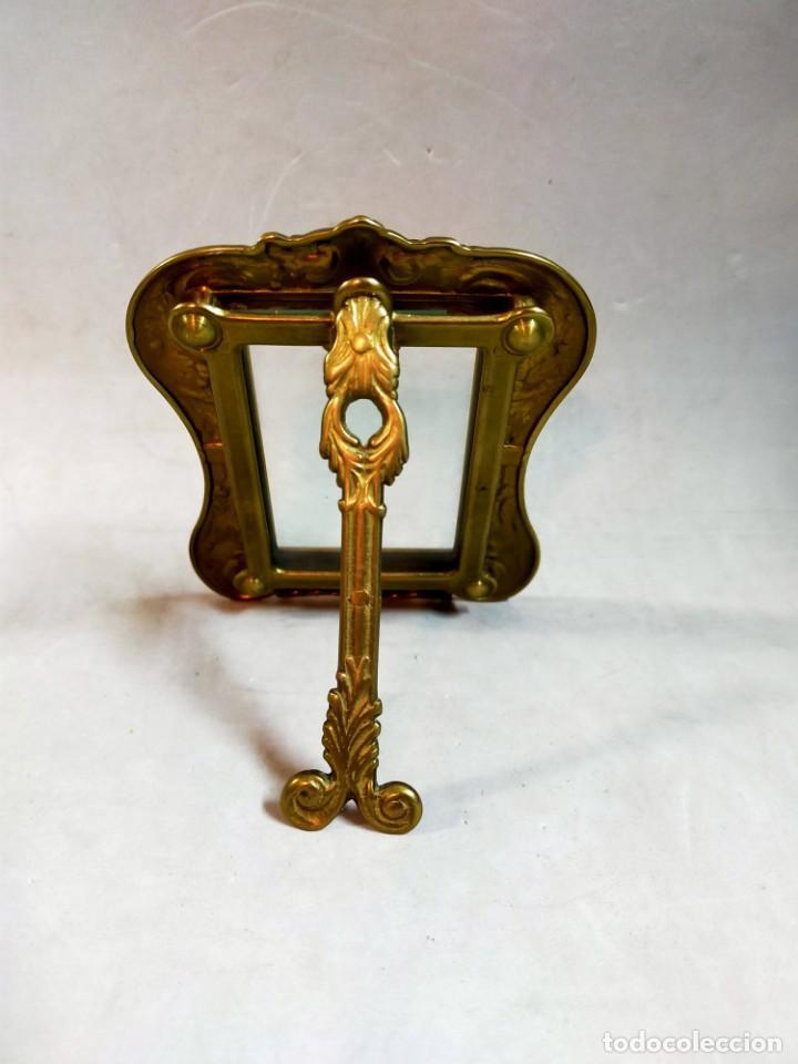 Antigüedades: MARCO DE BRONCE, DECORACION VEGETAL, PEQUEÑO FORMATO - Foto 5 - 195386301