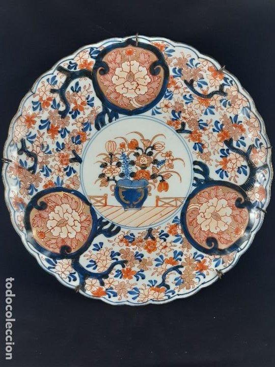 PLATO. PORCELANA. IMARI. JAPÓN. SIGLO XIX. (Antigüedades - Porcelana y Cerámica - Japón)