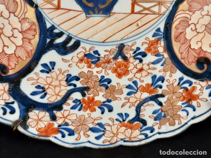 Antigüedades: Plato. Porcelana. Imari. Japón. Siglo XIX. - Foto 2 - 195387755