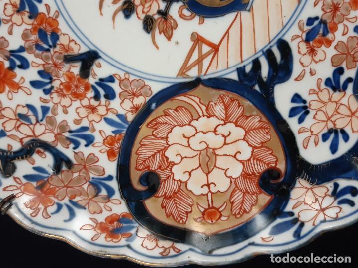 Antigüedades: Plato. Porcelana. Imari. Japón. Siglo XIX. - Foto 3 - 195387755