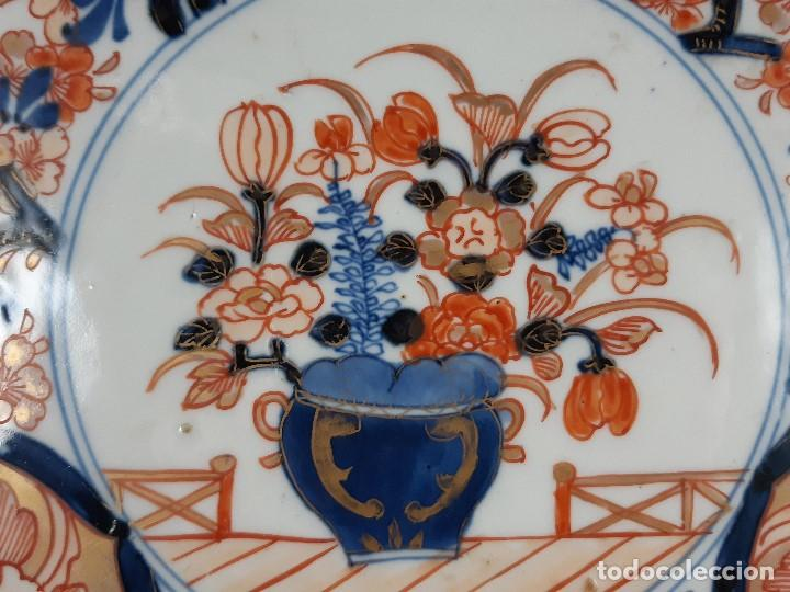 Antigüedades: Plato. Porcelana. Imari. Japón. Siglo XIX. - Foto 4 - 195387755