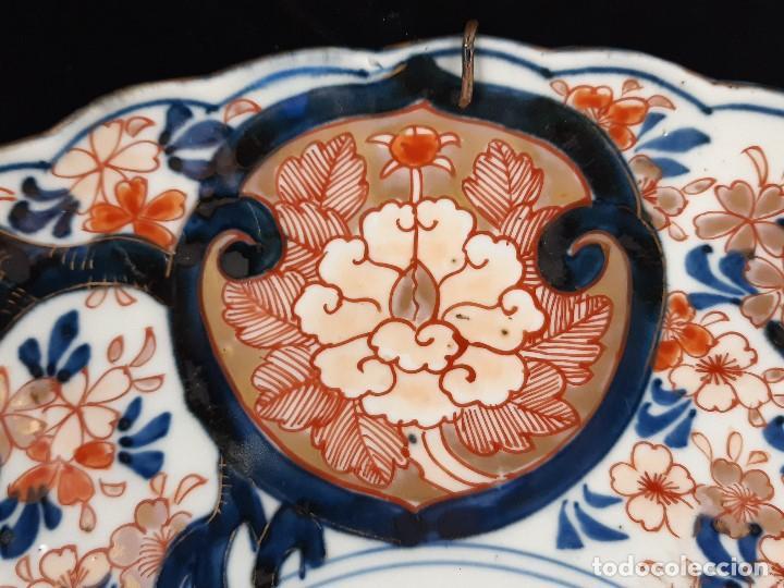 Antigüedades: Plato. Porcelana. Imari. Japón. Siglo XIX. - Foto 6 - 195387755