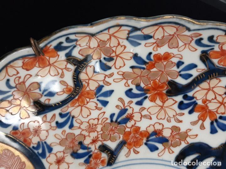 Antigüedades: Plato. Porcelana. Imari. Japón. Siglo XIX. - Foto 7 - 195387755