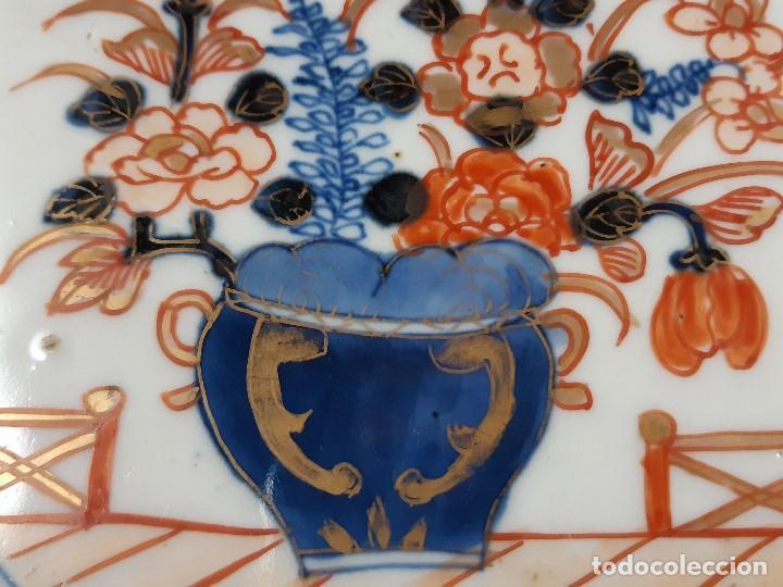 Antigüedades: Plato. Porcelana. Imari. Japón. Siglo XIX. - Foto 8 - 195387755