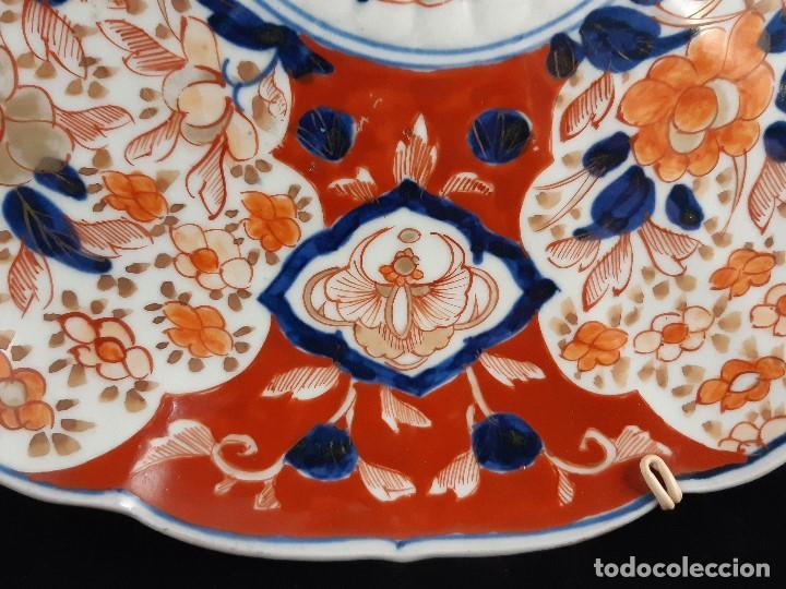 Antigüedades: Plato. Porcelana. Imari. Japón. Siglo XIX. - Foto 3 - 195387900