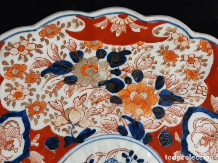 Antigüedades: Plato. Porcelana. Imari. Japón. Siglo XIX. - Foto 5 - 195387900