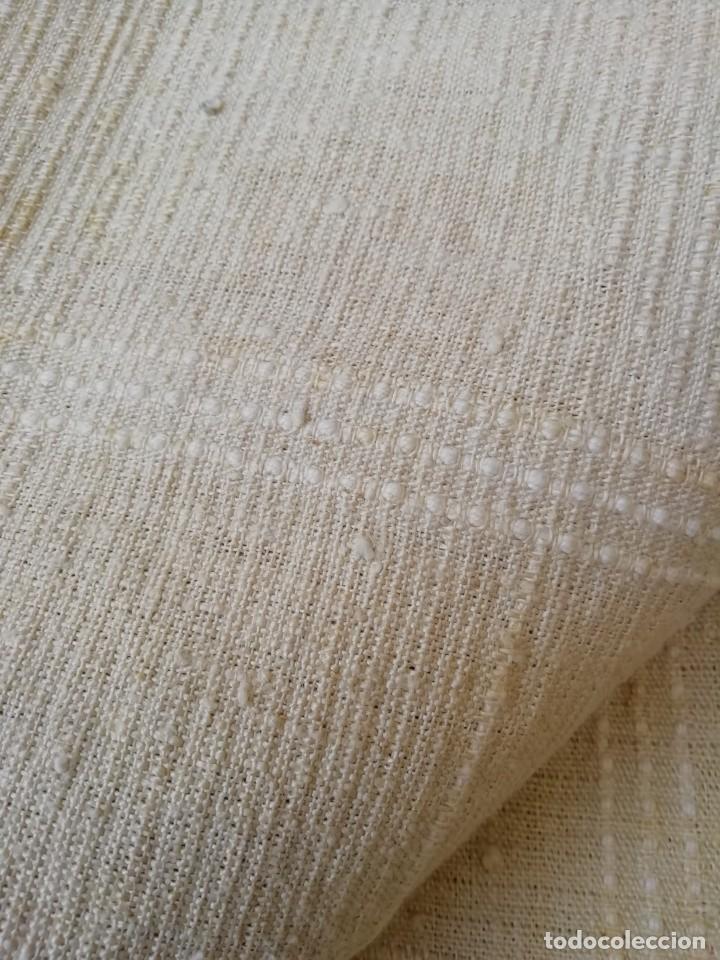 Antigüedades: Sábana de hilo sin lavar del siglo XIX - Foto 2 - 195387963