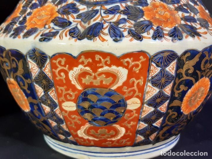 Antigüedades: Pareja jarrones. Porcelana. Imari. Japón. Siglo XVIII-XIX. - Foto 8 - 195388031
