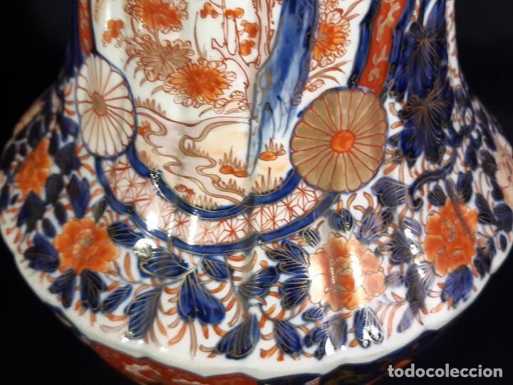 Antigüedades: Pareja jarrones. Porcelana. Imari. Japón. Siglo XVIII-XIX. - Foto 26 - 195388031