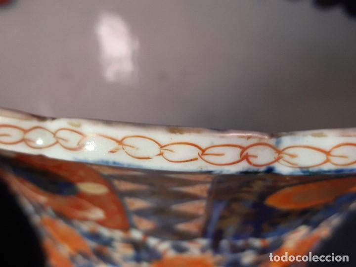 Antigüedades: Pareja jarrones. Porcelana. Imari. Japón. Siglo XVIII-XIX. - Foto 31 - 195388031