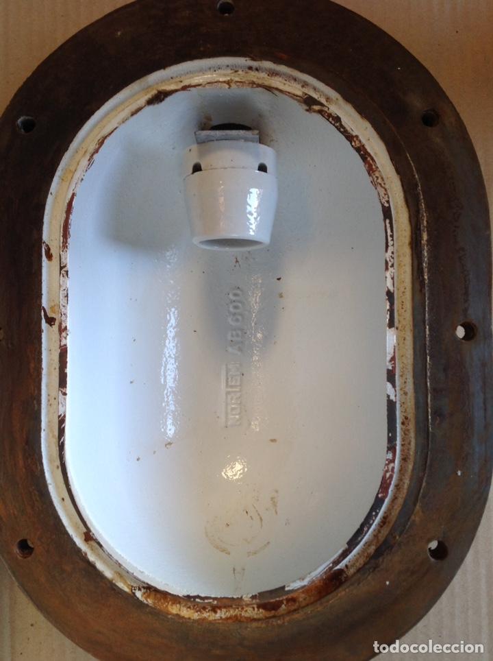 Antigüedades: ANTIGUO LAMPARA FAROL DE BARCO DE HIERRO FUNDIDO NORTEM - Foto 5 - 195388167