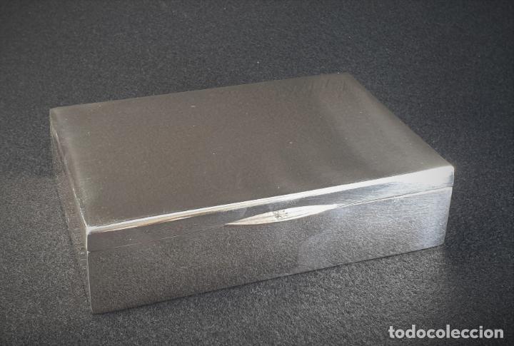 Antigüedades: caja en plata ley marcado con contraste - Foto 2 - 195388688