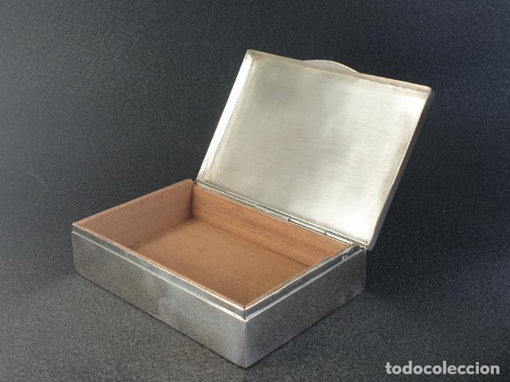 Antigüedades: caja en plata ley marcado con contraste - Foto 4 - 195388688