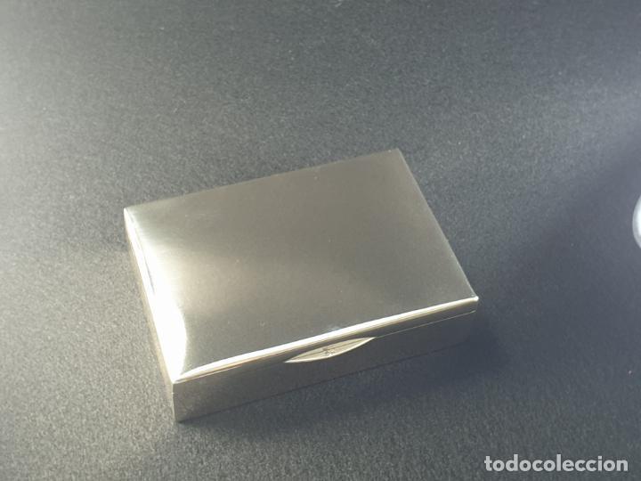 Antigüedades: caja en plata ley marcado con contraste - Foto 7 - 195388688