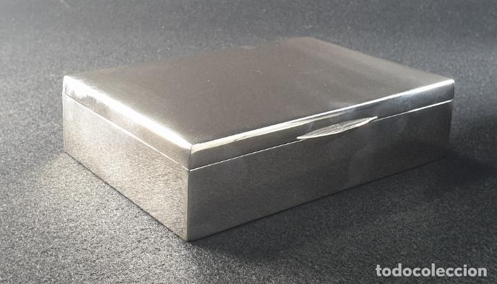 Antigüedades: caja en plata ley marcado con contraste - Foto 9 - 195388688