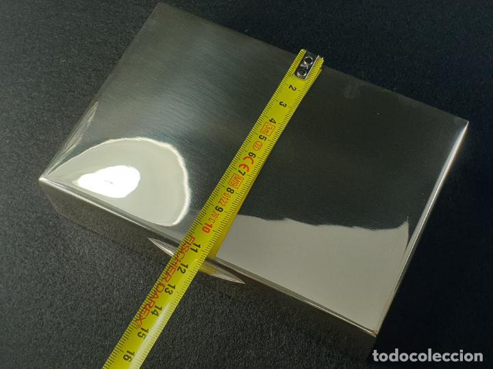 Antigüedades: caja en plata ley marcado con contraste - Foto 10 - 195388688