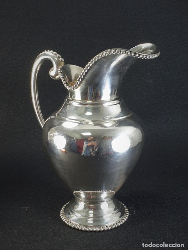 Antigüedades: jarra en plata ley marcado con contraste - Foto 3 - 195389732