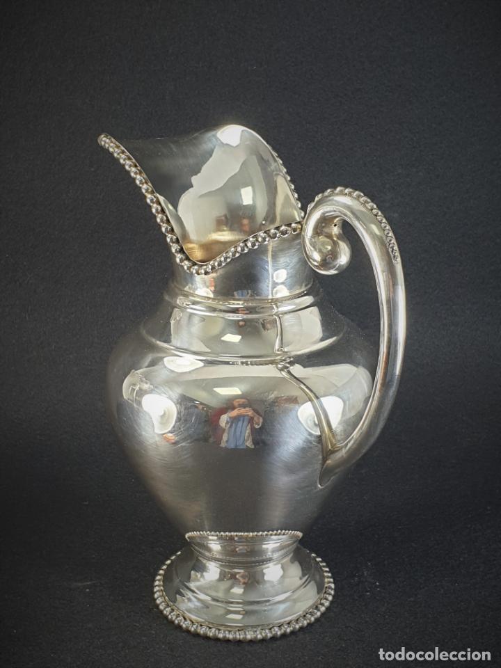 Antigüedades: jarra en plata ley marcado con contraste - Foto 5 - 195389732
