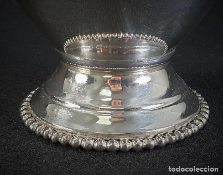 Antigüedades: jarra en plata ley marcado con contraste - Foto 9 - 195389732
