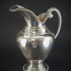 Antigüedades: JARRA EN PLATA LEY MARCADO CON CONTRASTE. Lote 195389732
