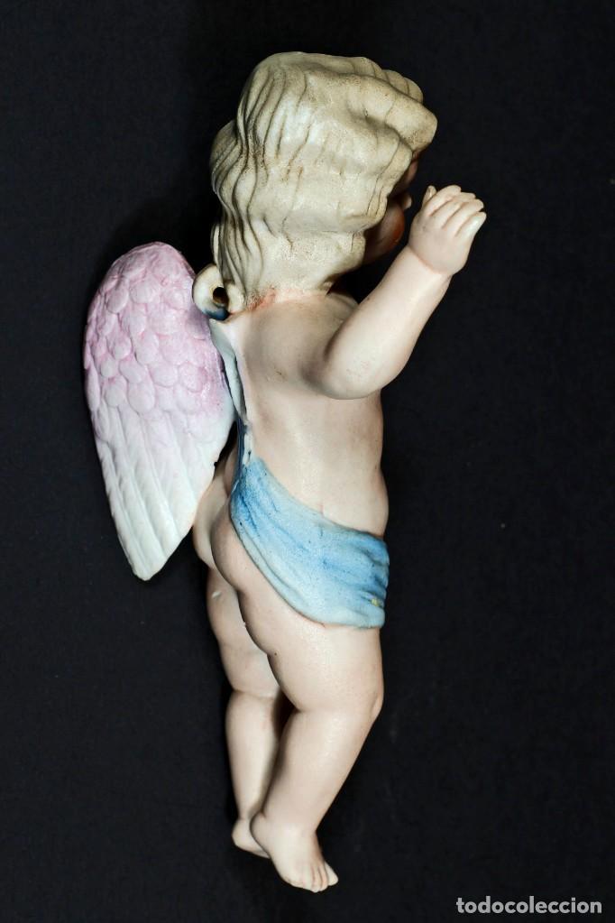 Antigüedades: ANTIGUO ANGELITO DE BISCUIT COLOREADO. - Foto 3 - 195389812