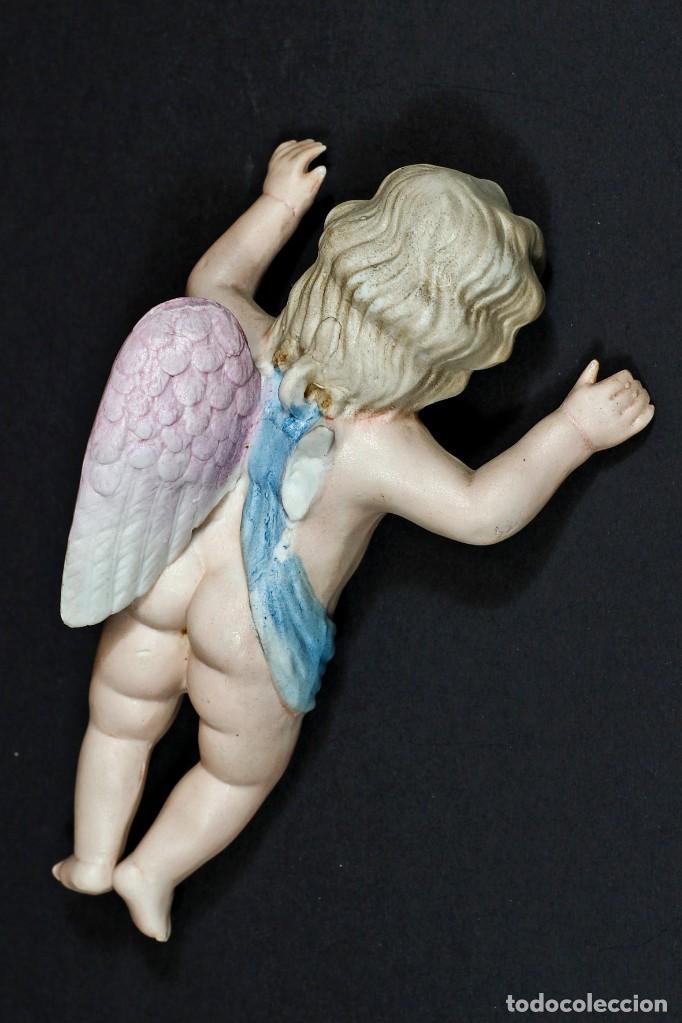 Antigüedades: ANTIGUO ANGELITO DE BISCUIT COLOREADO. - Foto 4 - 195389812