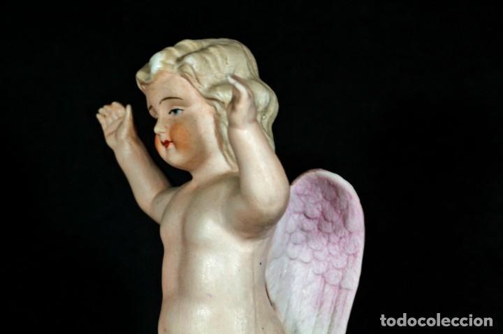 Antigüedades: ANTIGUO ANGELITO DE BISCUIT COLOREADO. - Foto 8 - 195389812