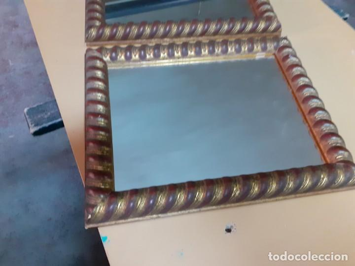 Antigüedades: Pareja de espejos de camerino - Foto 2 - 195391677