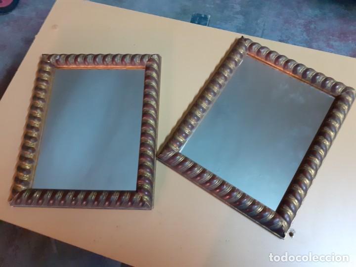 Antigüedades: Pareja de espejos de camerino - Foto 4 - 195391677