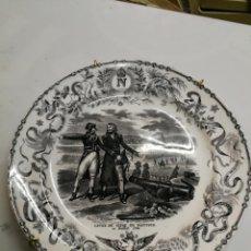 Antigüedades: BATALLAS NAPOLEONICAS PLATO LLANO, 19 CM. SELLADO, S. XIX FIN DEL ASEDIO DE MANTUA 31 JULIO 1796. Lote 195391708