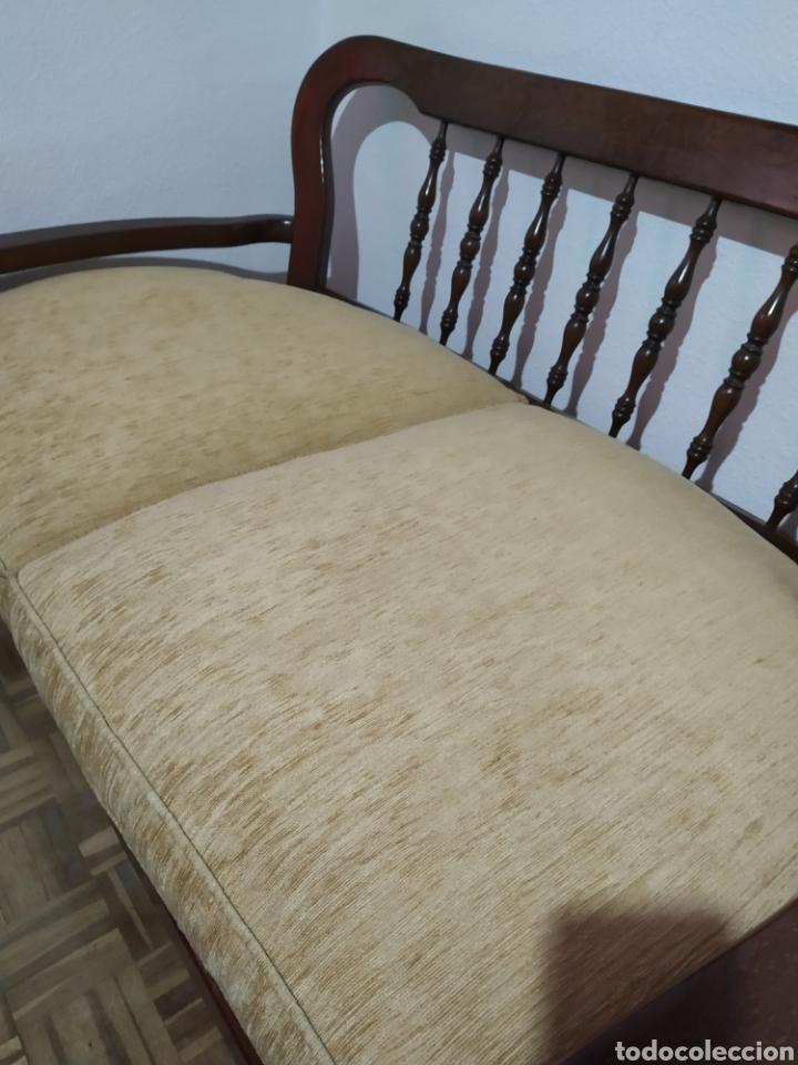 Antigüedades: Sofá y sillón de madera vintage - Foto 5 - 195394742
