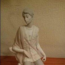 Antigüedades: ANTIGUA FIGURA DE PASTOR DE LLADRÓ, EN PERFECTO ESTADO. 27X14X14. Lote 195395297