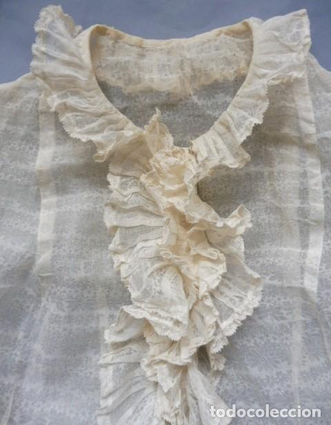 ANTIGUA CAMISA CON CHORRERA PPIO. S.XX (Antigüedades - Moda y Complementos - Mujer)