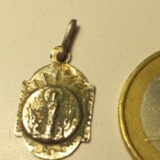 Antigüedades: ANTIGUA PEQUEÑA MEDALLA VIRGEN DEL PILAR. Lote 195399937