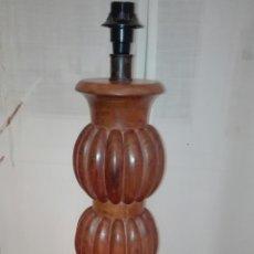 Antigüedades: MAGNIFICO PIE DE LAMPARA,DE SOBREMESA, EN MADERA DE PALISANDRO., 50 CMS DE ALTURA. Lote 195408872