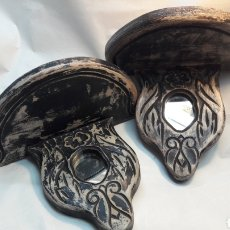 Antigüedades: PAREJA DE REPISAS RÚSTICAS. Lote 195409390