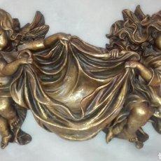 Antigüedades: BONITA BENDITERA DE 40 X 25 CMS.. Lote 195409795