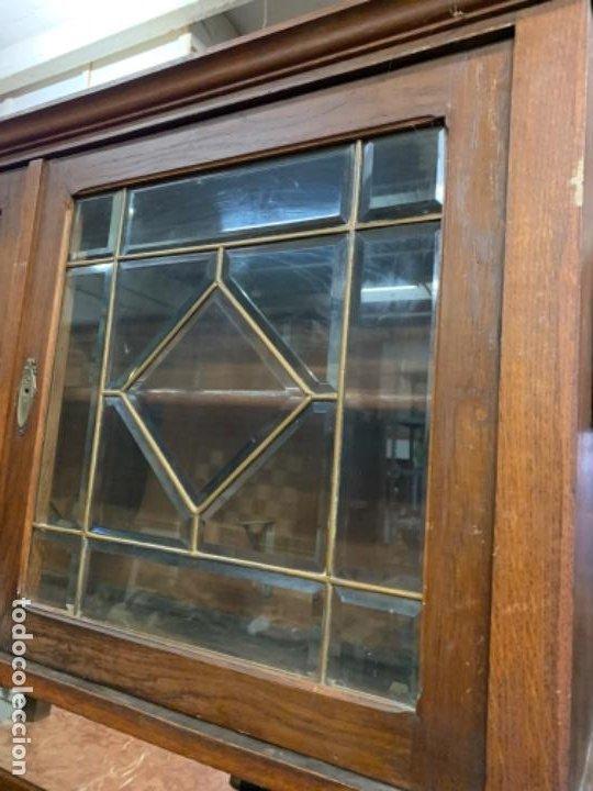 Antigüedades: Aparador vidrio biselado - Foto 2 - 195411061