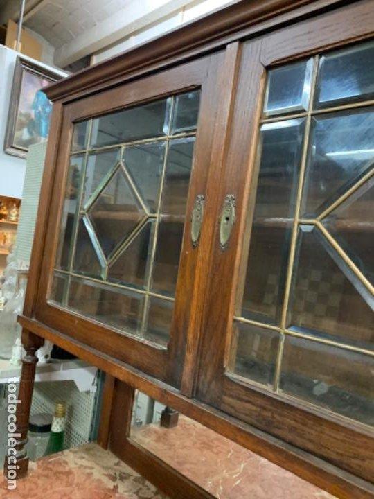 Antigüedades: Aparador vidrio biselado - Foto 3 - 195411061
