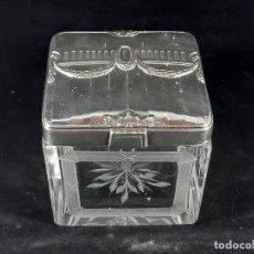 Antigüedades: CAJA. CRISTAL Y ORFEBRERIE GALLIA. FRANCIA. ENTRE 1908 - 1929.. Lote 195415661