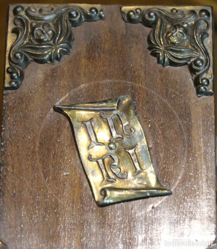 Antigüedades: Crucifijo,madera y bronce,50 x 30 cm, años 60 - Foto 4 - 195415960