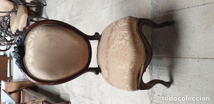 Antigüedades: Silleria de estilo isabelino - Foto 6 - 195416066