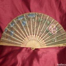 Antigüedades: ABANICO ROMANTICO 1890-1900. Lote 195416895
