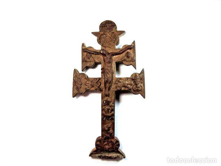 CRUCIFIJO DE BRONCE SIGLO XVIII (Antigüedades - Religiosas - Crucifijos Antiguos)
