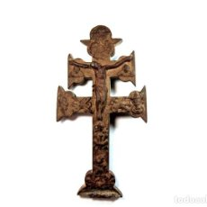 Antigüedades: CRUCIFIJO DE BRONCE SIGLO XVIII. Lote 195420488